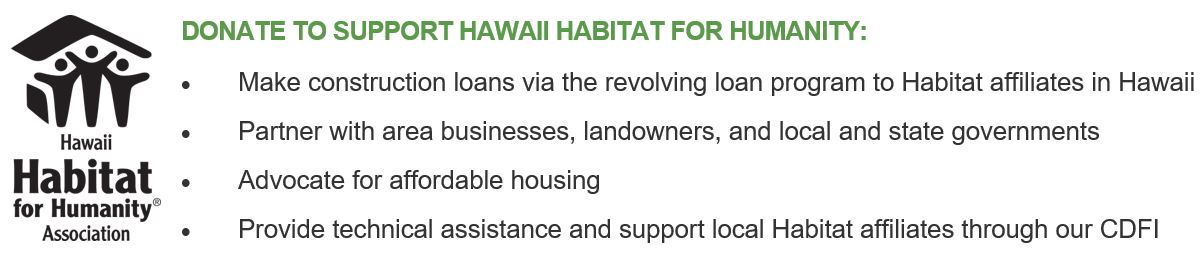 Donate to Hawaii Habitat